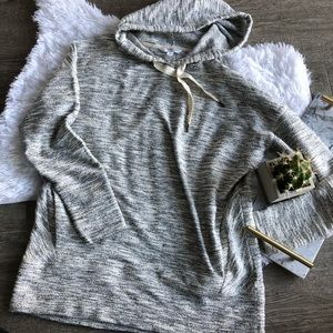 banana republic sunday sunday gray hoodie